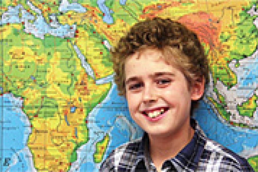 Jacob Burnley, from Nanaimo, B.C., placed second in this year's Great Canadian Geography Challenge