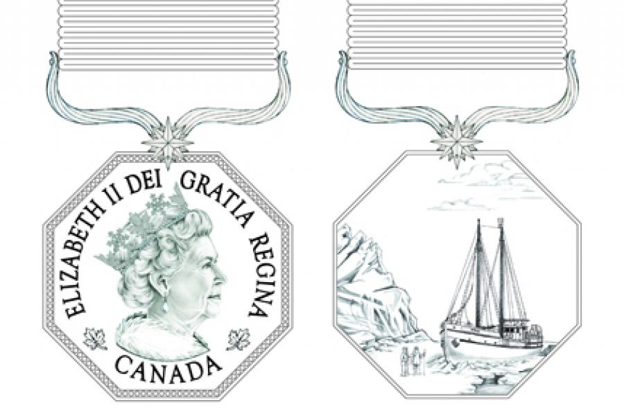 An image of Canada's new Polar Medal.