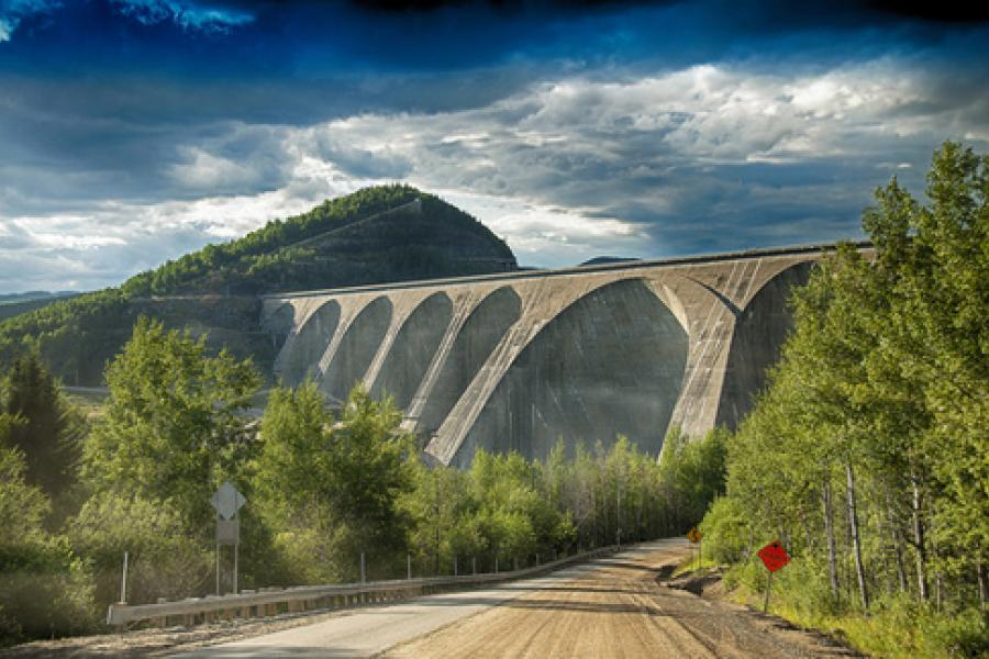 The Daniel-Johnson dam in Quebec