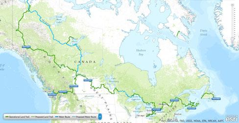 what does it take to map a cross canada trail map of the trans canada