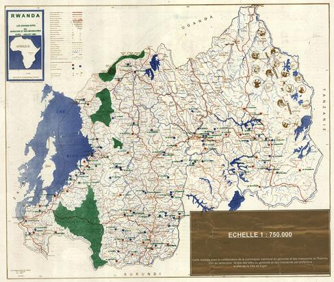 Understanding the rwandan genocide through maps canadian geographic administrative map of rwanda1994 genocide sites gumiabroncs Images