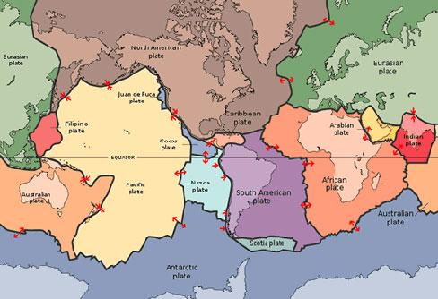 Map monday what makes a continent canadian geographic major tectonic plates of the world gumiabroncs Gallery