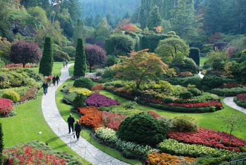 Visiting the reclaimed space of Victoria\'s Butchart Gardens ...