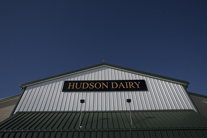The roof of the main milking parlour at Hudson Dairy