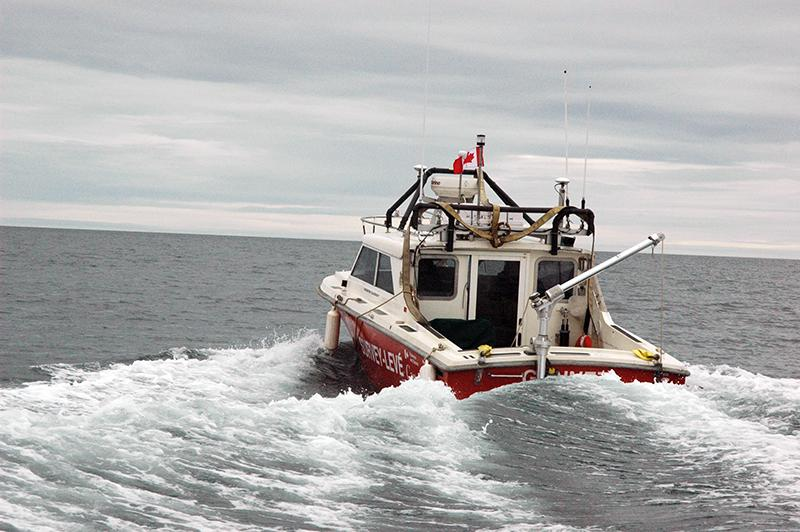 Canadian Hydrographic Survey launch, CSL Gannett