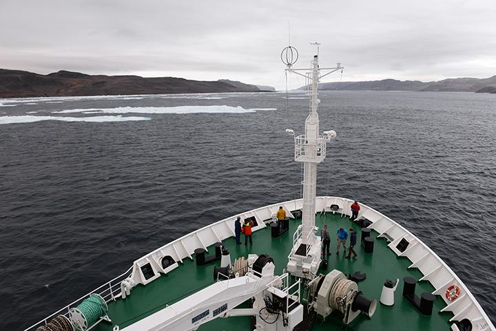 View of the Bellot Strait from the Voyager's bow