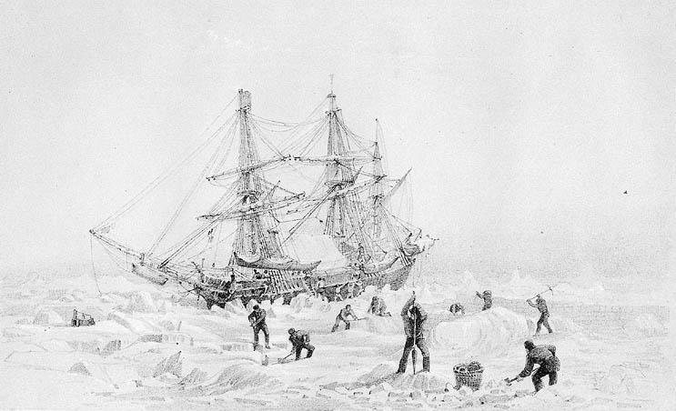 HMS Terror thrown up by the ice