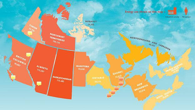 Click Here To Find Out What Canada Would Look Like If The Provinces And  Territories Were Scaled To Represent The Amount Of Energy Individuals Use.