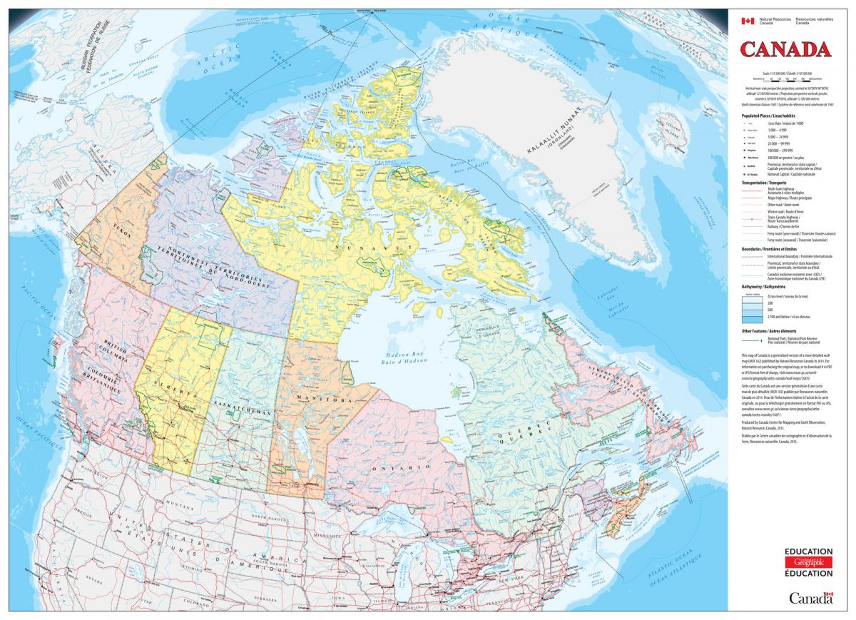 New rip-proof classroom map of Canada now available | Canadian ...