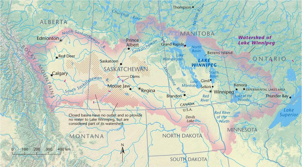 Lake Winnipeg watershed then and now Canadian Geographic
