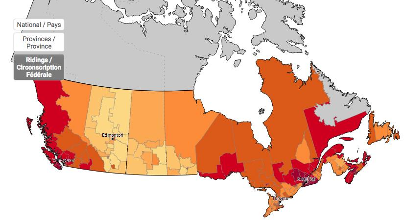 Climate Change Map Canada Mapping Canadian opinions on climate change | Canadian Geographic