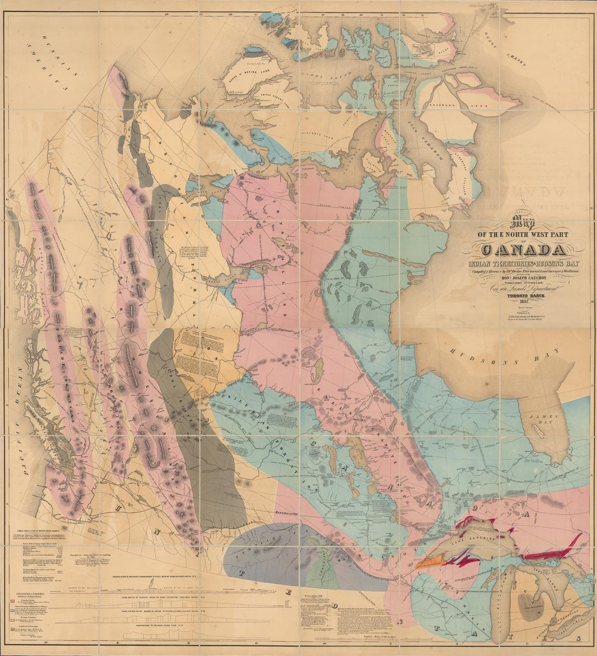 West Of Canada Map.First Map Of Canada S West Canadian Geographic