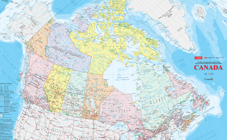 Map Of Canada Resources.Nrcan Giant Floor Map Canadian Geographic