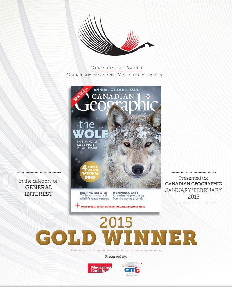 Cover of the January/February 2015 issue of Canadian Geographic