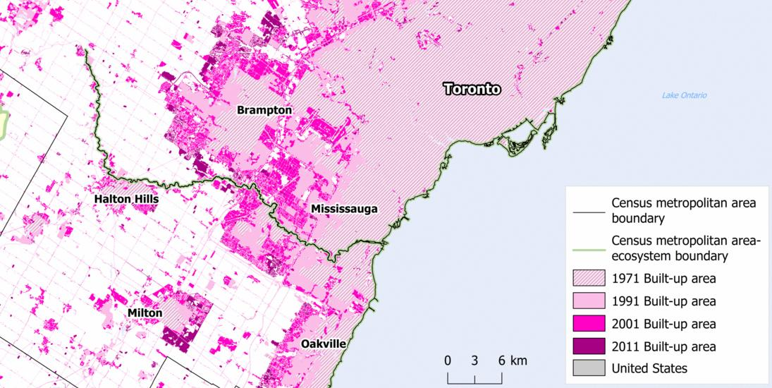 Map Of Canada Toronto Ontario.Mapping 40 Years Of Canadian Urban Expansion Canadian Geographic