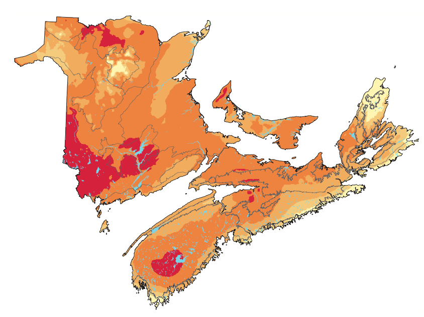 Mapping the abundance of nesting birds across the Maritimes
