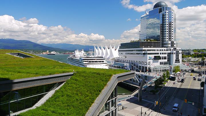 At six acres, the green roof that covers the West Building of the Vancouver Convention Centre is the largest in Canada