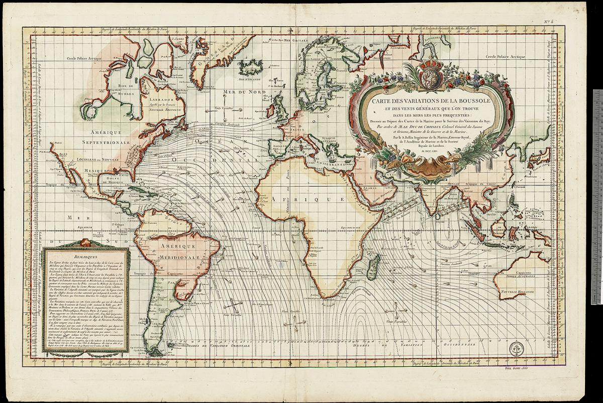 Magnetic Maps Helped 18th Century Mariners Canadian Geographic