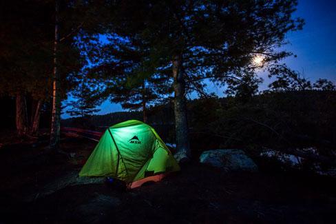 Firewater Multi-Bottle lights up Thomas' tent