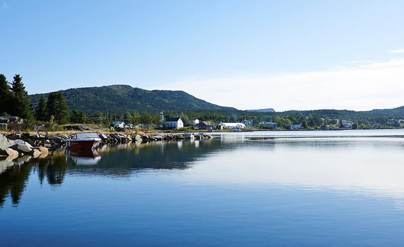 A view of Burlington, N.L. looking northeast across the bay on the first morning of the festival.