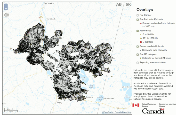 Timelapse Map Shows Growth Of Fort Mcmurray Fire Canadian Geographic