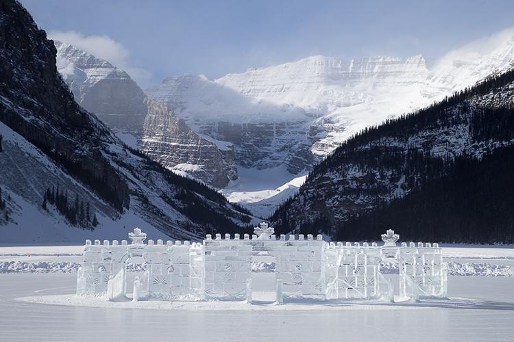Ice sculpture at Chateau Lake Louise