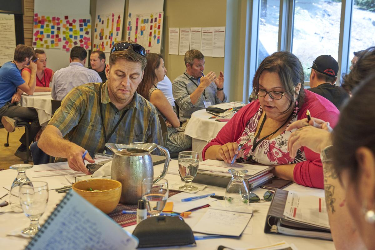 Tanna Pirie-Wilson, right, participates in a session on Day 2 of the 20/20 Catalysts program