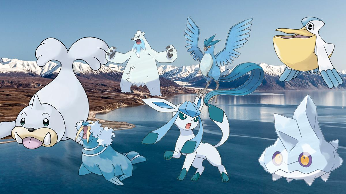 Pokémon inspired by Arctic wildlife on an Arctic landscape photo by Robert Bergeron/Can Geo Photo Club