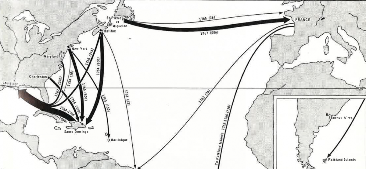 English Migration To Canada Map Mapping the Acadian deportations | Canadian Geographic