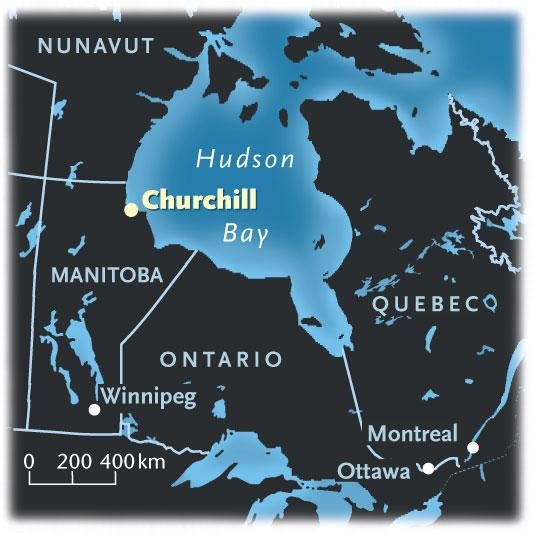 City of lights Churchill Manitoba Canadian Geographic