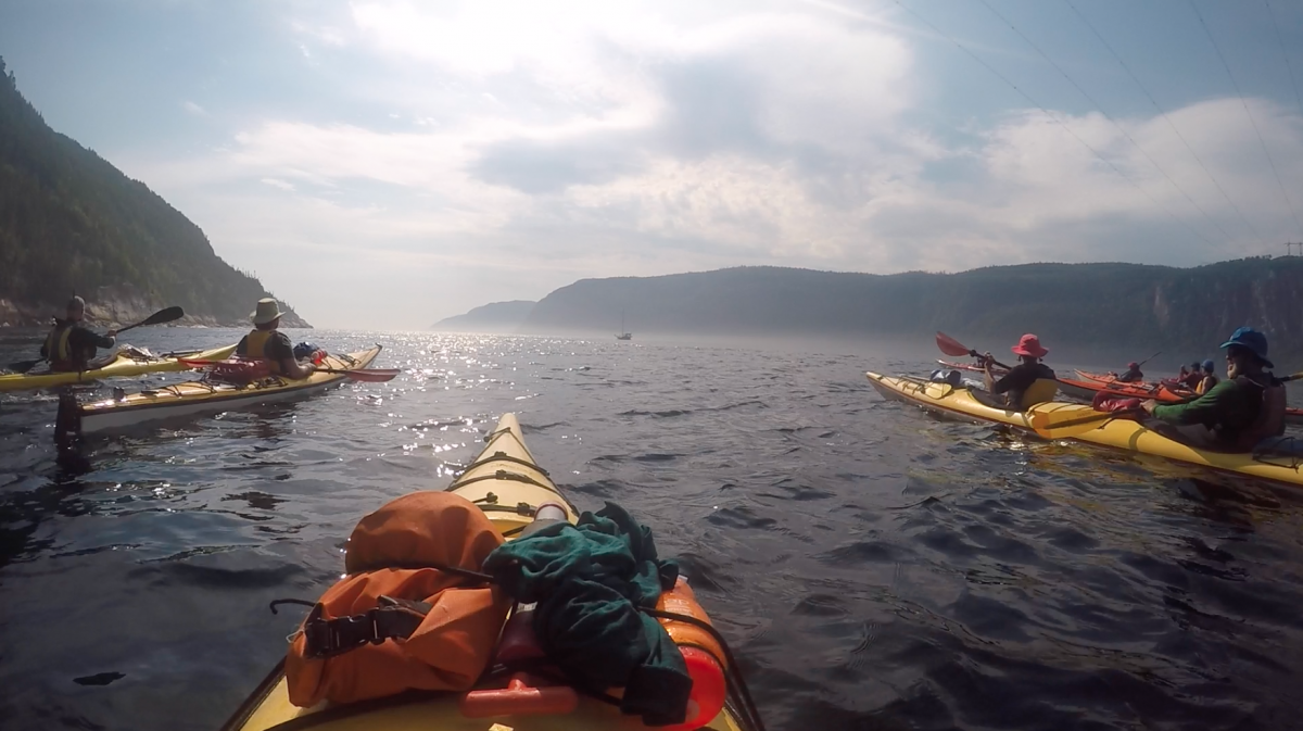 Sea kayaks on the Saguenay fjord