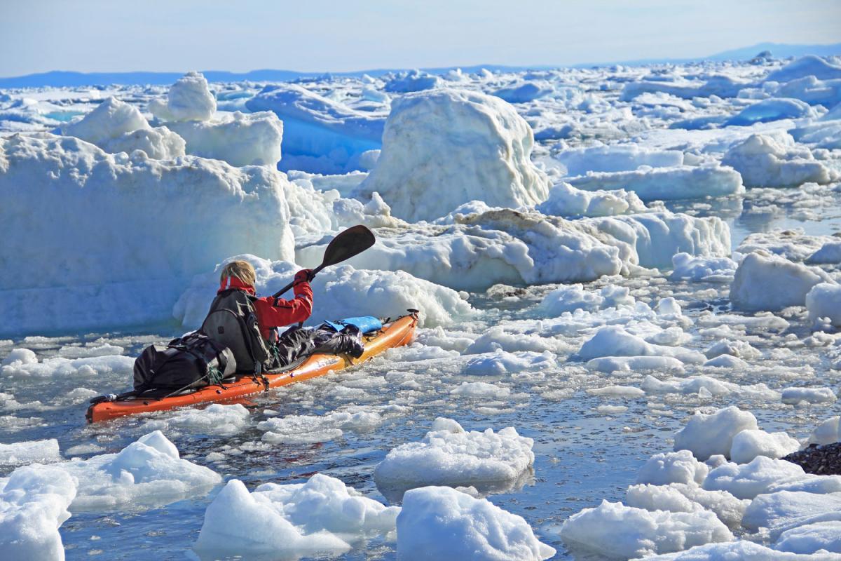 kayaking Ellesmere Island