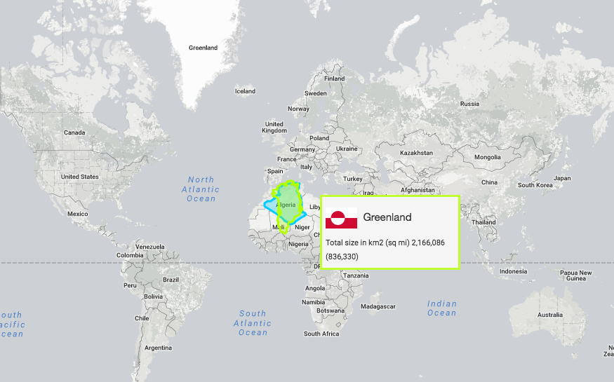 True Size Map Of The World.Explore The Real Size Of Earth S Land Masses With This Interactive