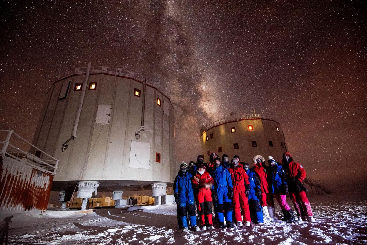 The 2014-15 crew at the Concordia Station in Antarctica