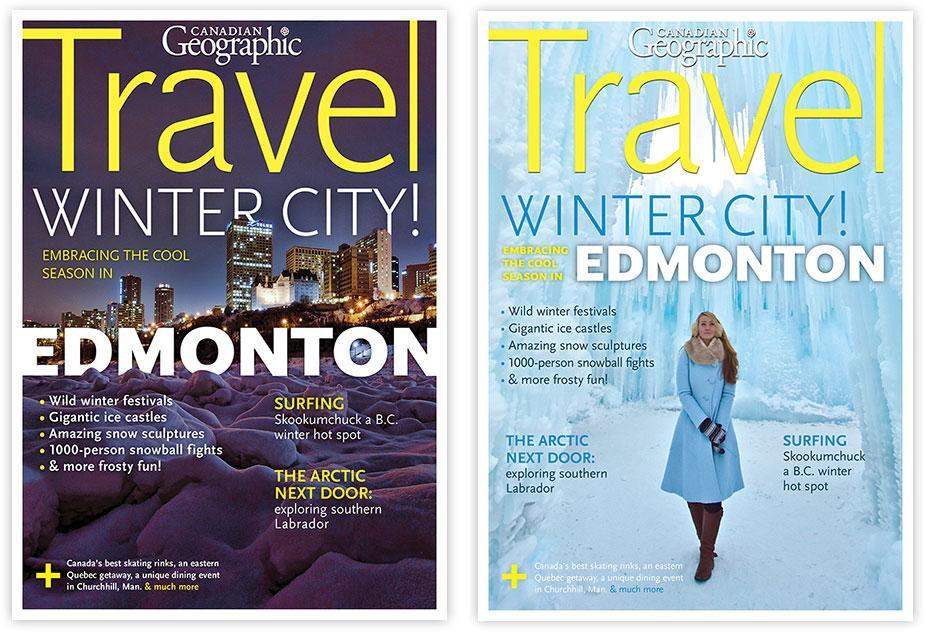 Edmonton Canadian Geographic cover vote