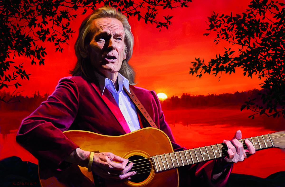 Gordon Lightfoot illustration by Robert Carter for Canadian Geographic