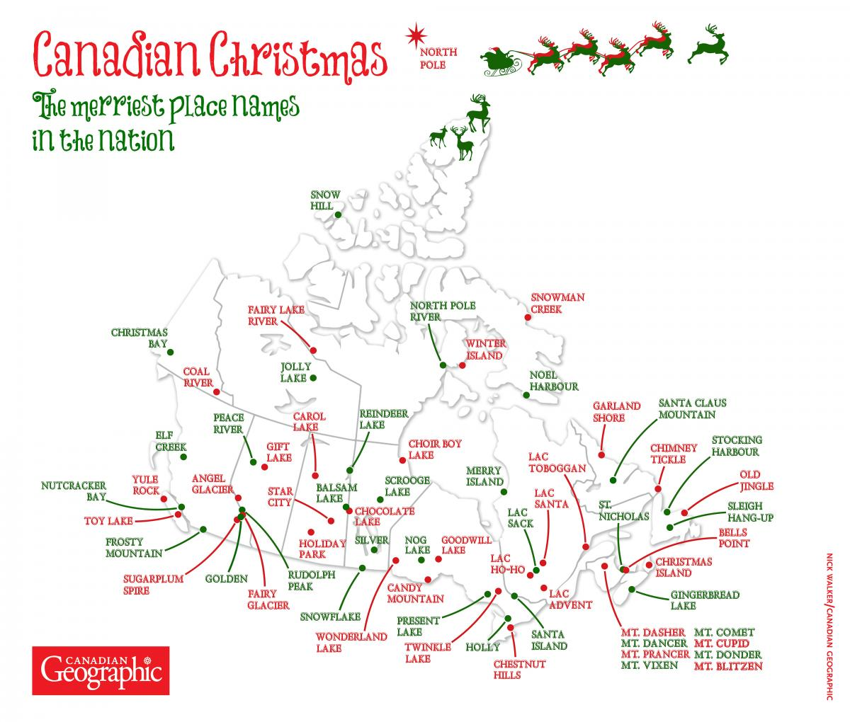 Map Of Canada With City Names.Mapping Canada S Merriest Sites Canadian Geographic