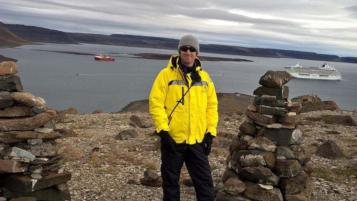 Adam Lajeunesse at Ulukhaktok, N.W.T.