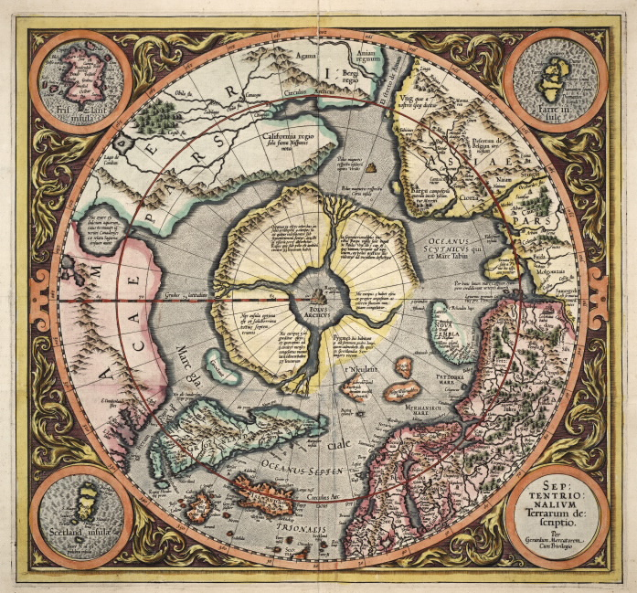 Heinrich Scherer's 1702 chart of the North Pole