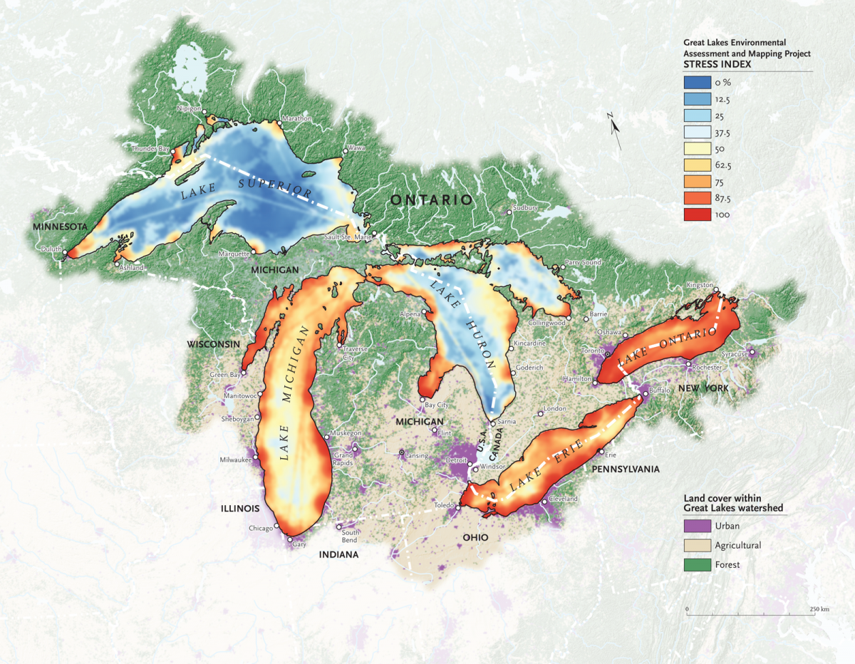 Where Is The Great Lakes In Canada On A Map Mapping the human impact on the Great Lakes | Canadian Geographic