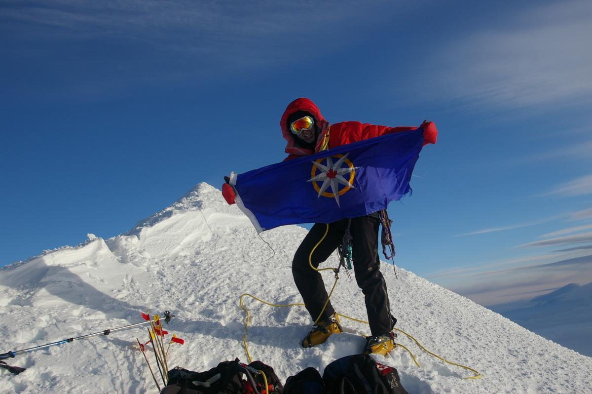 James Coleridge on the summit of Mount Logan, June 3, 2008