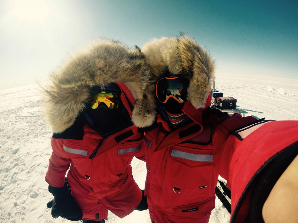 U of A scientists on the summit of the Devon Ice Cap in 2015