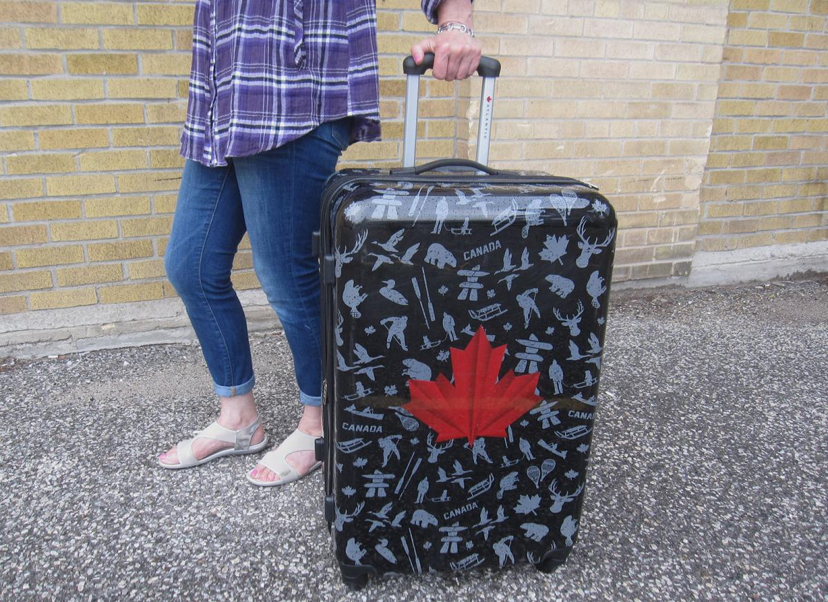 luggage, maple leaf, canadian collection
