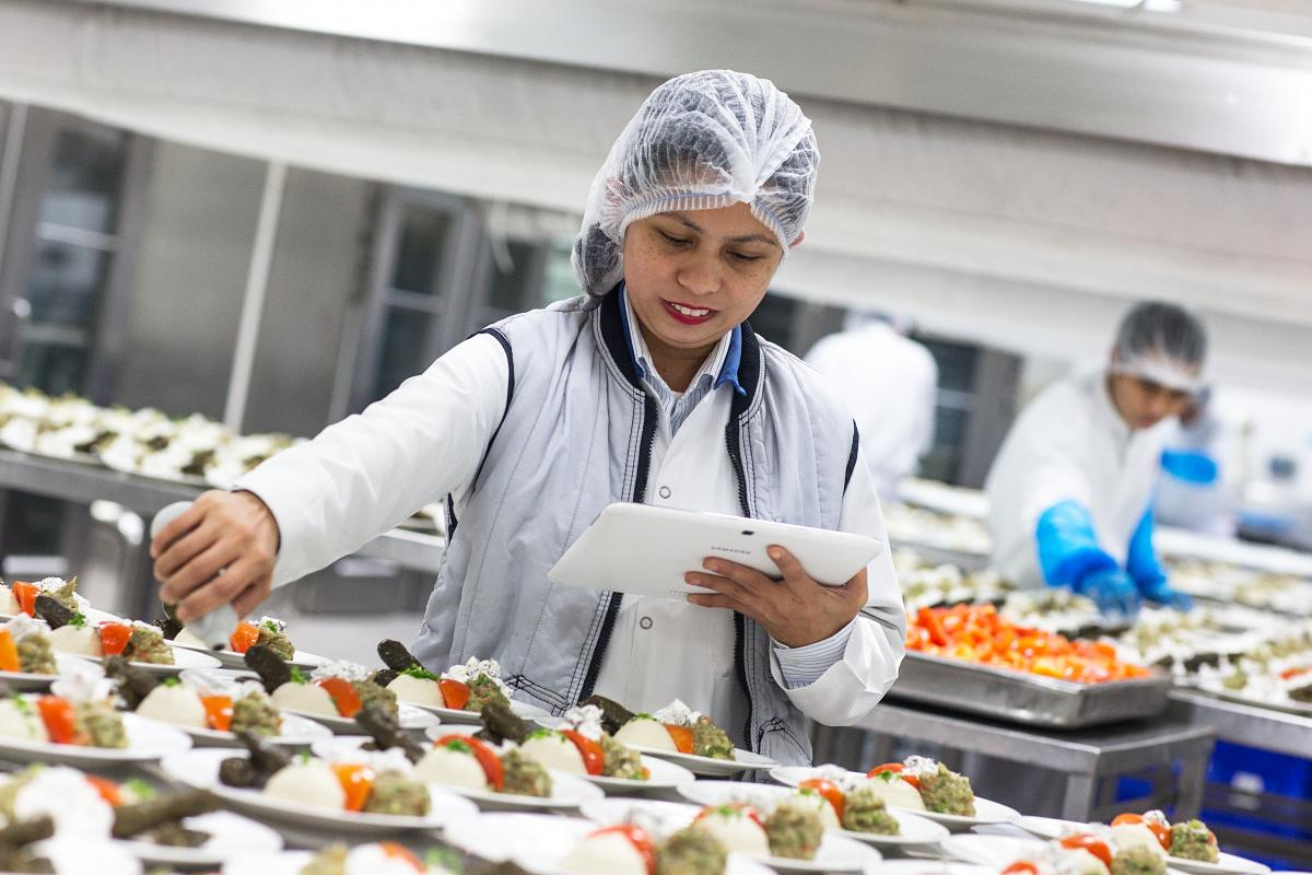 Emirates Airlines' catering facility