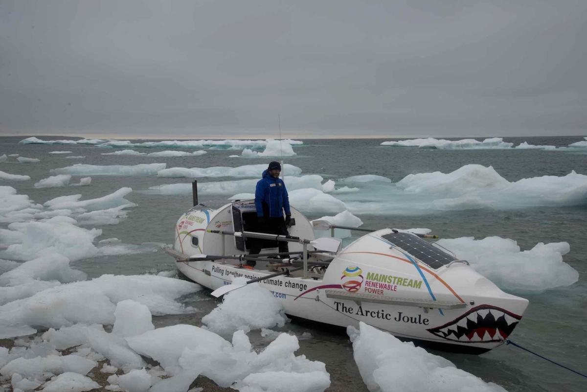 Paul Gleeson aboard the Arctic Joule