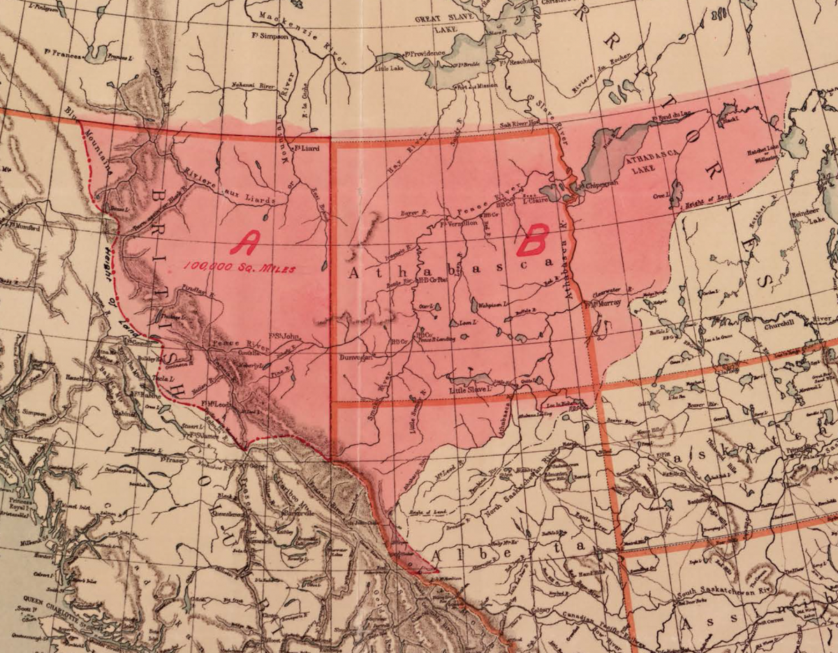 One of two maps of Treaty 8 territory submitted as evidence in West Moberly First Nations