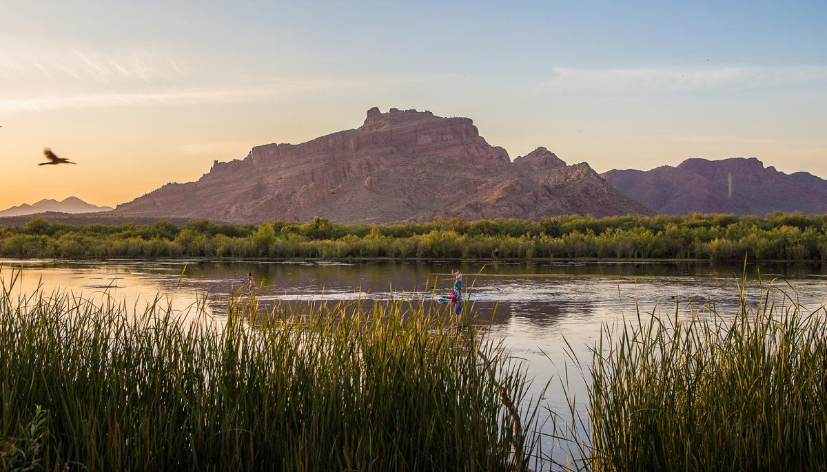 Paddling on the lower salt river, mesa arizona
