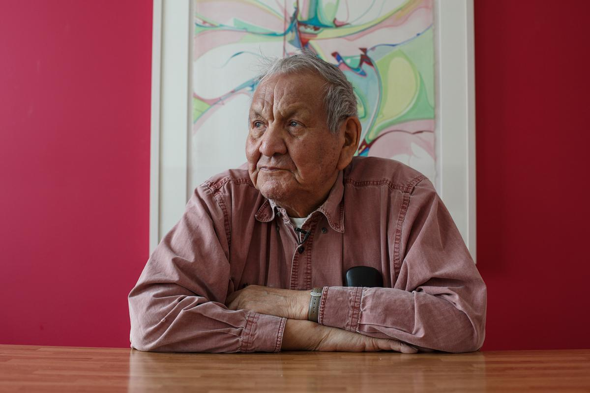 Alex Janvier photographed by Amber Bracken