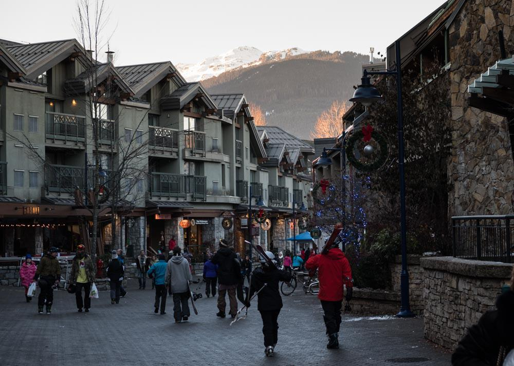 Whistler village by Zoe Ducklow