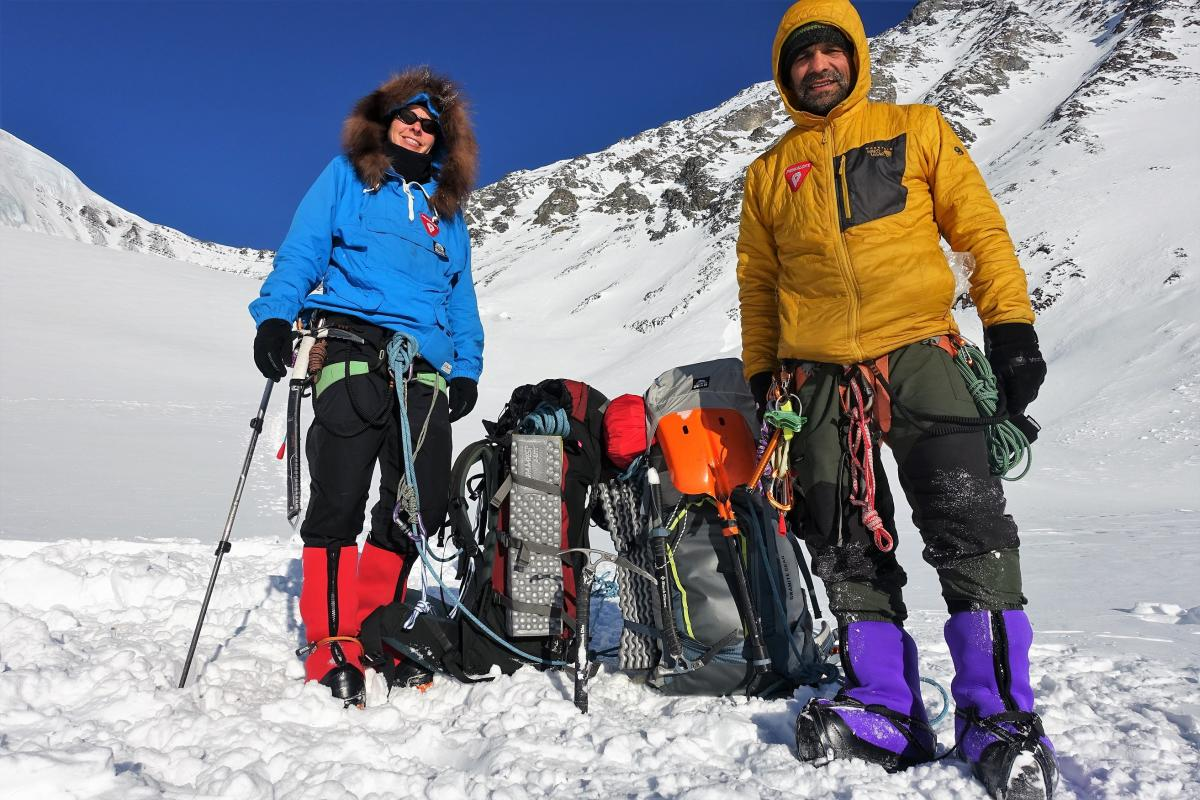 Pascale Marceau and Lonnie Dupre on a previous expedition in Alaska
